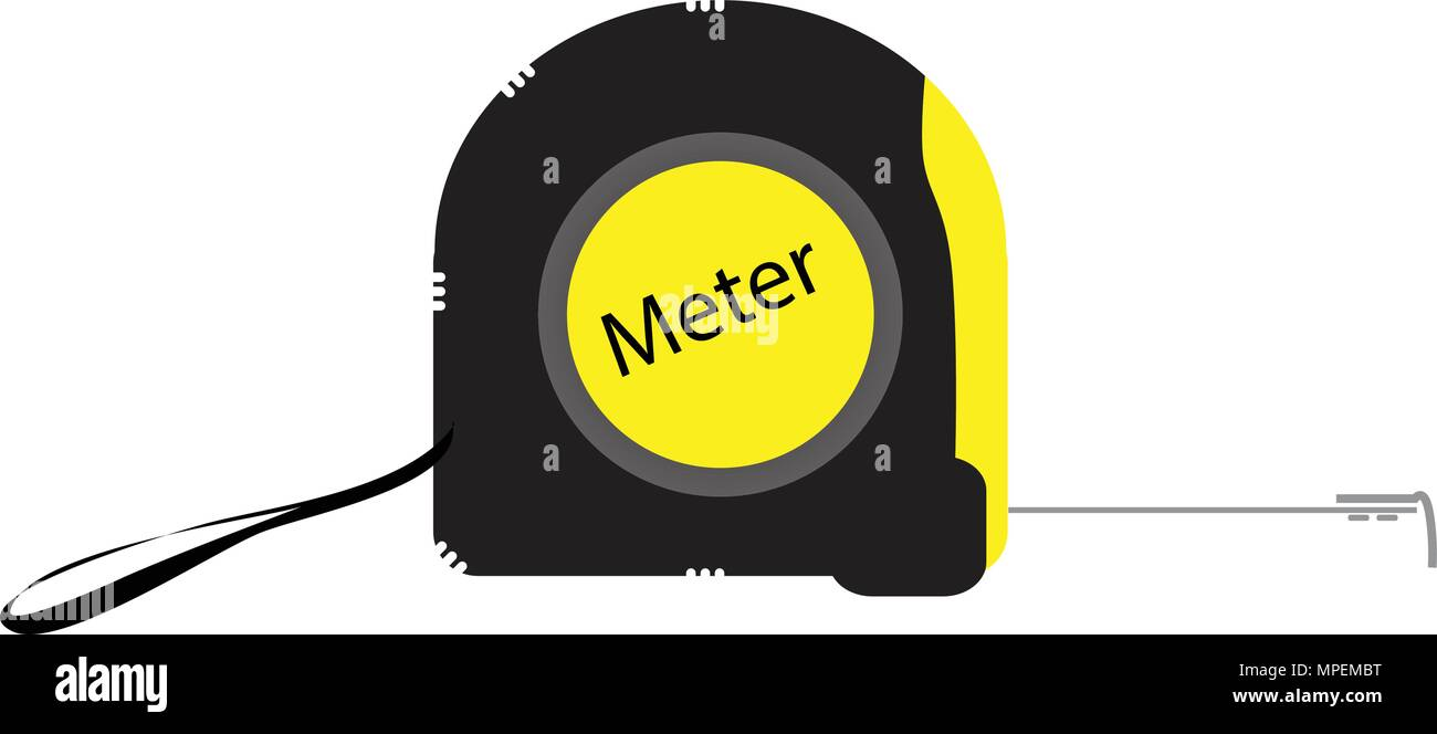 vector measure tape tool color vector illustration - Stock Vector
