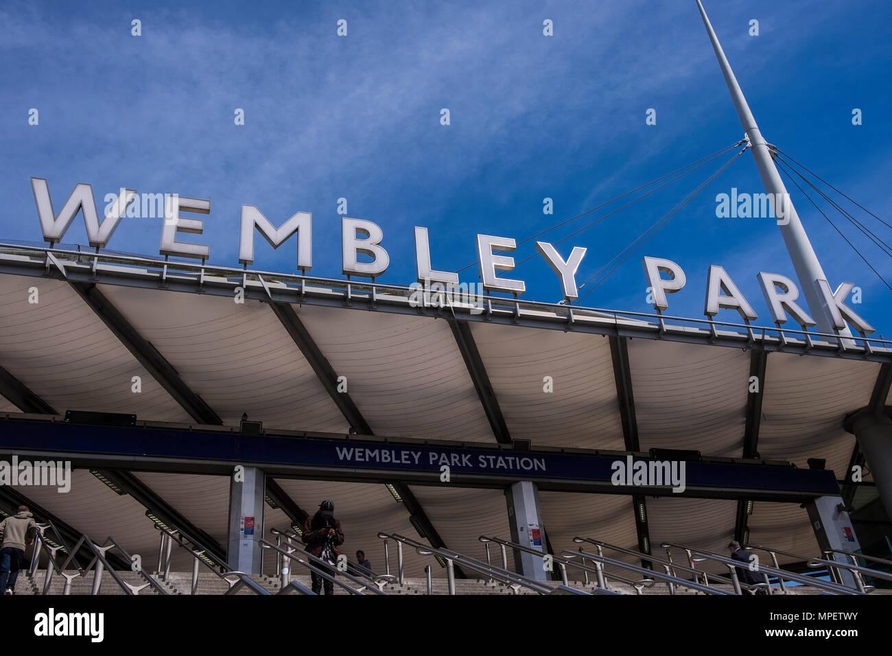 Wembley Park station, Borough of Brent, London, England, U.K. - Stock Image