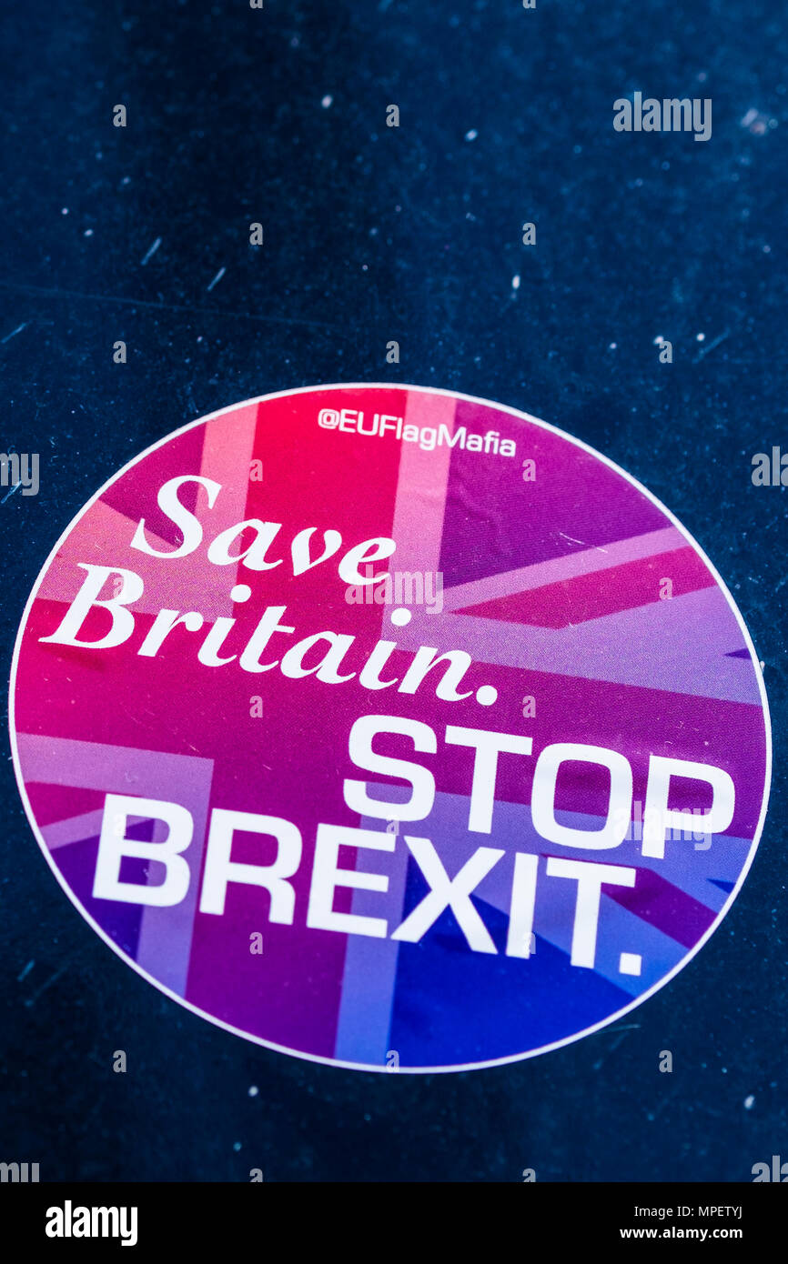Save Britain, Stop Brexit sign, London, England, U.K. Stock Photo