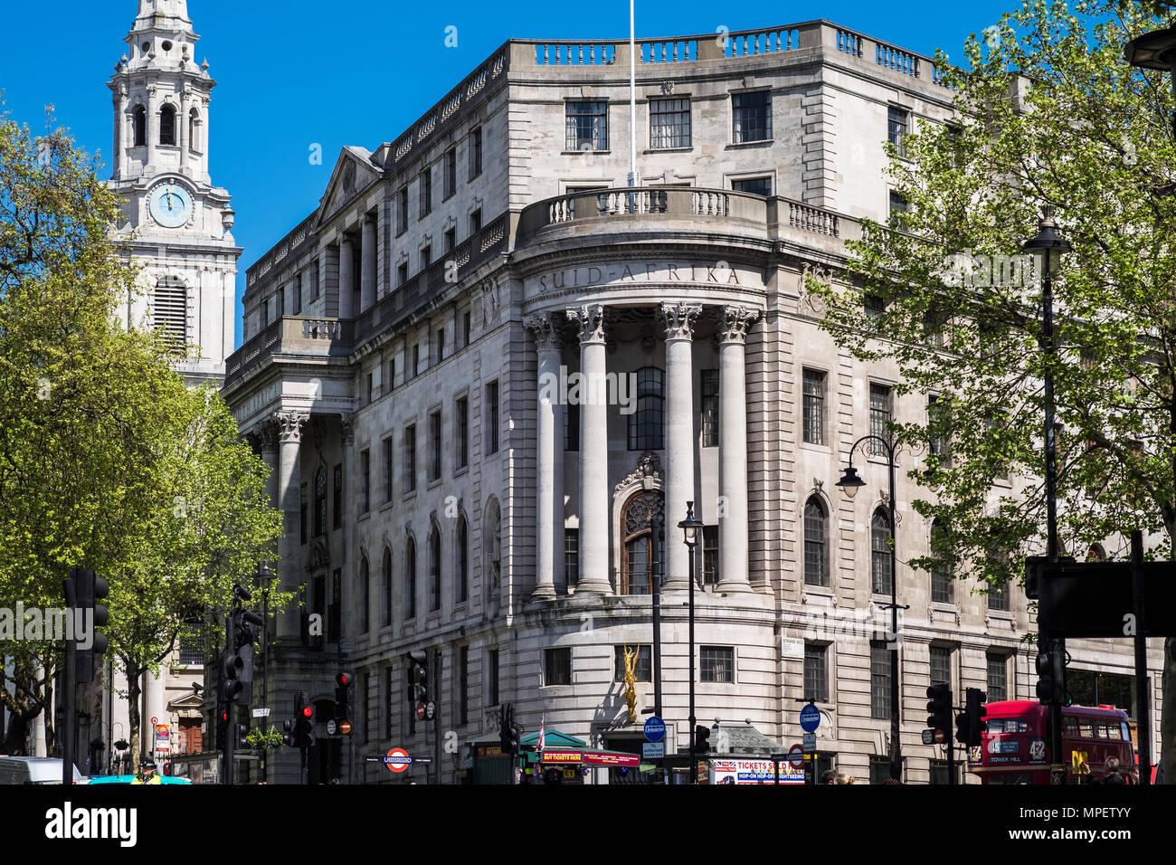 South Africa House, Trafalgar Square, London, England, U.K. - Stock Image