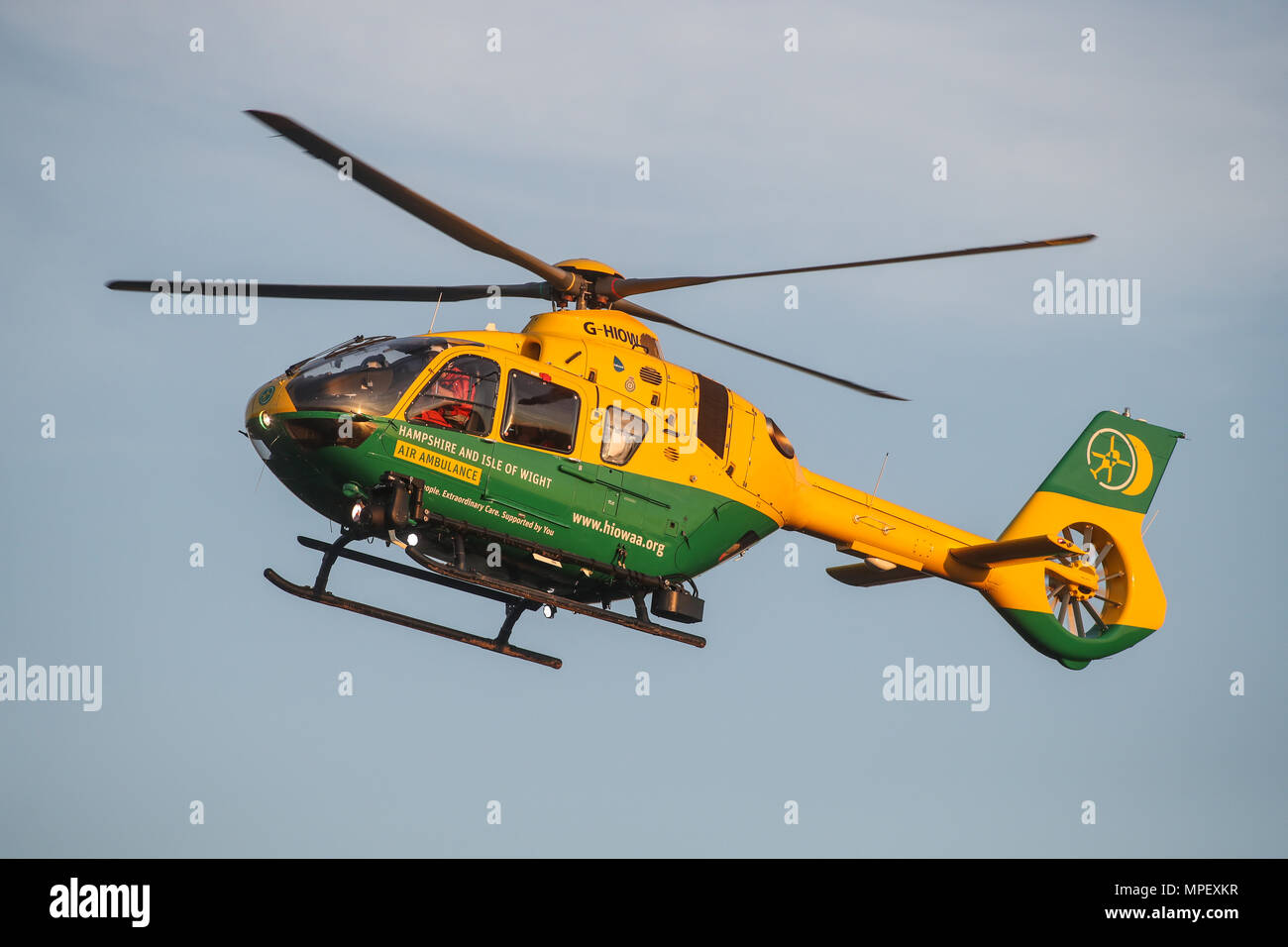 Hampshire and Isle of Wight Air Ambulance helicopter - Stock Image
