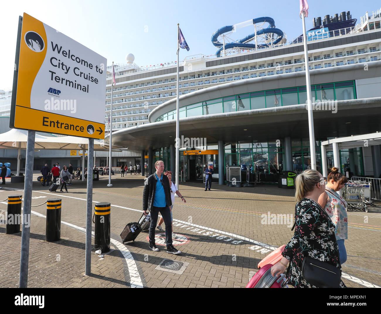 Southampton City Cruise Terminal exterior, Southampton Docks - Stock Image