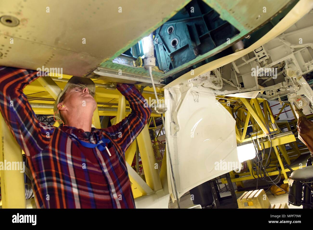 wiring harness stock photos wiring harness stock images alamy kenneth johnson 561st aircraft maintenance squadron electronics technician examines a wiring harness on an