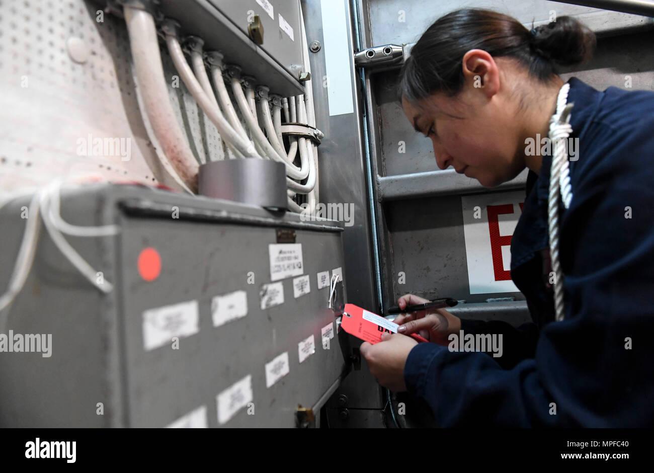 Check And Fuse Box Stock Photos Images Train 170222 N Rm689 026 South China Sea Feb 22 2017