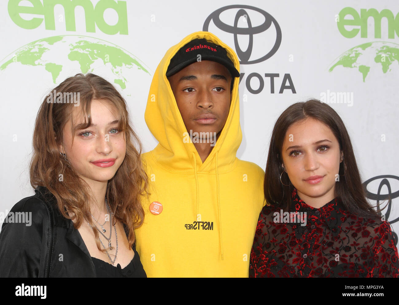 Beverly Hills, Ca. 22nd May, 2018. Jaden Smith, Odessa Adlon, Gideon Adlon, at the 28th Annual EMA Awards at Montage Beverly Hills, California on May 22, 2018. Credit: Faye Sadou/Media Punch/Alamy Live News - Stock Image