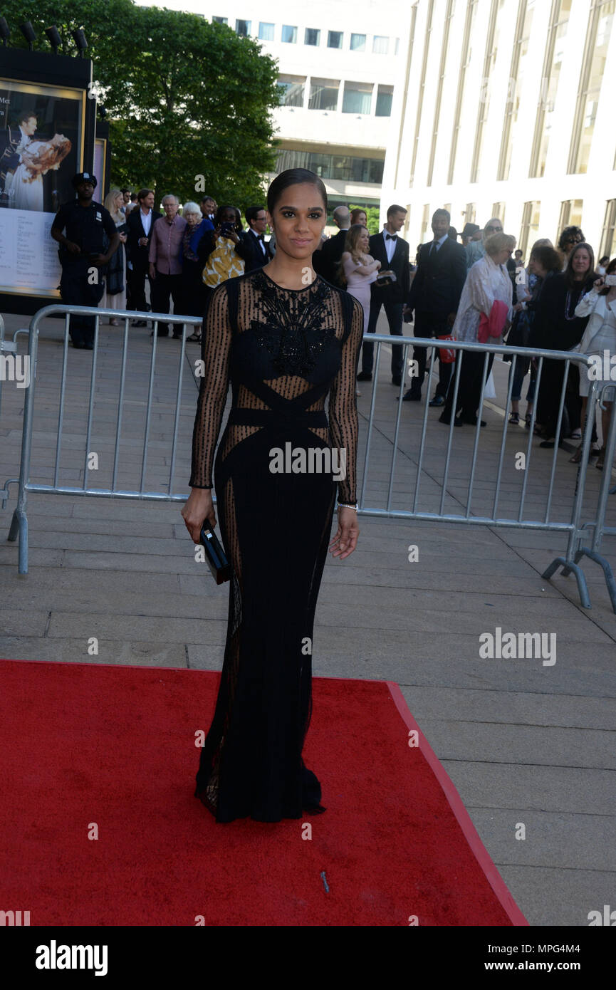NEW YORK, NY - MAY 21: Misty Copeland attends the 2018 American Ballet Theatre Spring Gala at The Metropolitan Opera House on May 21, 2018 in New York City.   People:  Misty Copeland - Stock Image