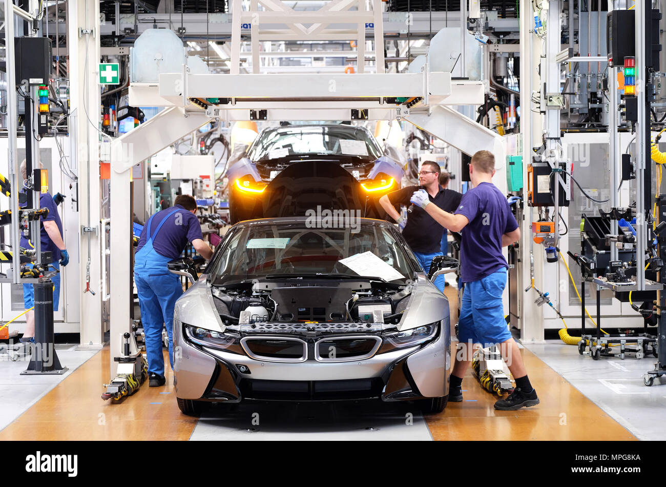 23 May 2018 Germany Leipzig Bmw Staff Working On The Production