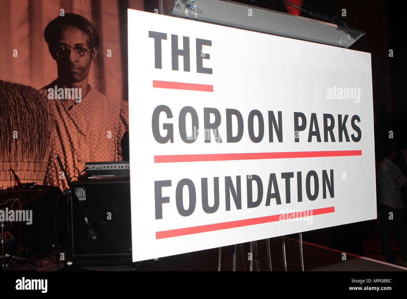 New York, NY, USA. 22nd May, 2018. Atmosphee during the Gordon Parks Foundation Awards Dinner & Auctionn: Celebrating the Arts & Humanitarianism held at Cipriani 42nd Street on May 22, 2018 in New York City. Credit: Mpi43/Media Punch/Alamy Live News - Stock Image