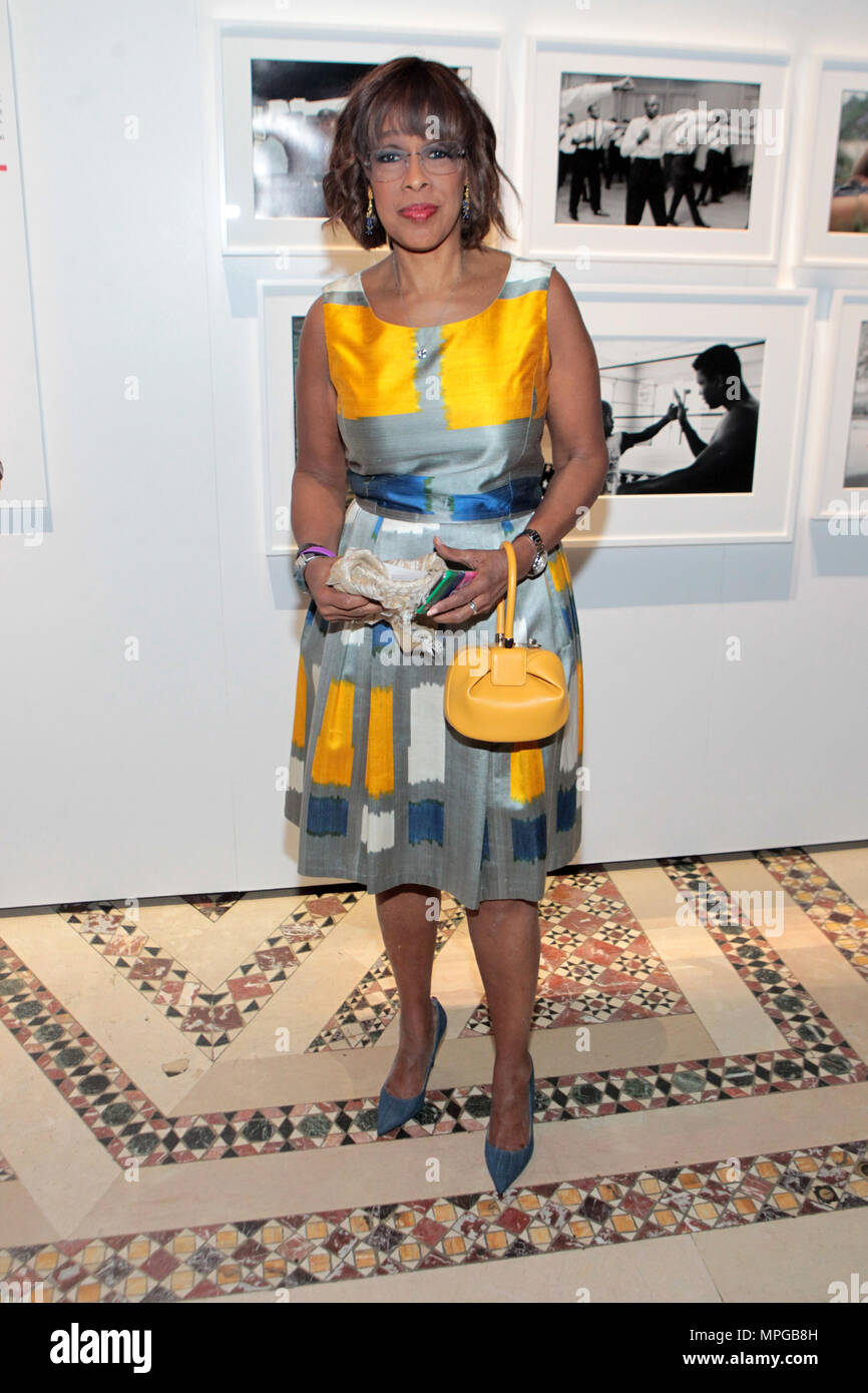 New York, NY, USA. 22nd May, 2018. TV Personality Gayle King attends the Gordon Parks Foundation Awards Dinner & Auctionn: Celebrating the Arts & Humanitarianism held at Cipriani 42nd Street on May 22, 2018 in New York City. Credit: Mpi43/Media Punch/Alamy Live News - Stock Image