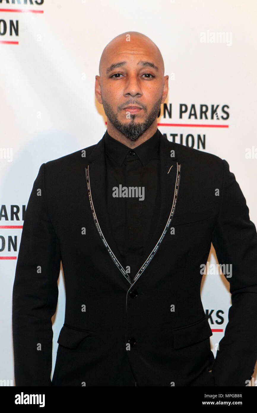 New York, NY, USA. 22nd May, 2018. Recording Artist/Philanthropist Kasseem Dean aka Swizz Beatz attends the Gordon Parks Foundation Awards Dinner & Auctionn: Celebrating the Arts & Humanitarianism held at Cipriani 42nd Street on May 22, 2018 in New York City. Credit: Mpi43/Media Punch/Alamy Live News - Stock Image