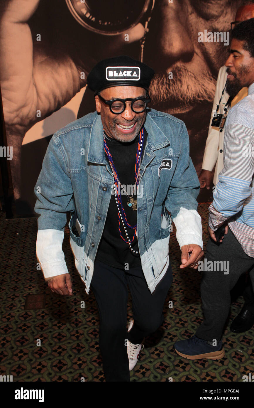 New York, NY, USA. 22nd May, 2018. Director Spike Lee attends the Gordon Parks Foundation Awards Dinner & Auctionn: Celebrating the Arts & Humanitarianism held at Cipriani 42nd Street on May 22, 2018 in New York City. Credit: Mpi43/Media Punch/Alamy Live News - Stock Image