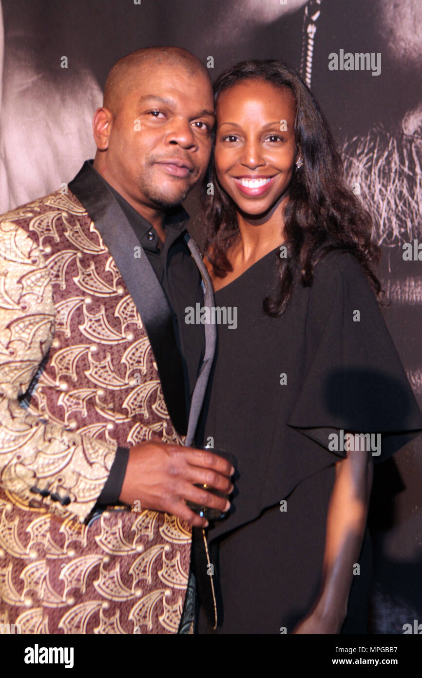 New York, NY, USA. 22nd May, 2018. (L-R) Visual Artist Kehinde Wiley and Author/Arts Educator Sarah Elizabeth Lewis attend the Gordon Parks Foundation Awards Dinner & Auctionn: Celebrating the Arts & Humanitarianism held at Cipriani 42nd Street on May 22, 2018 in New York City. Credit: Mpi43/Media Punch/Alamy Live News - Stock Image