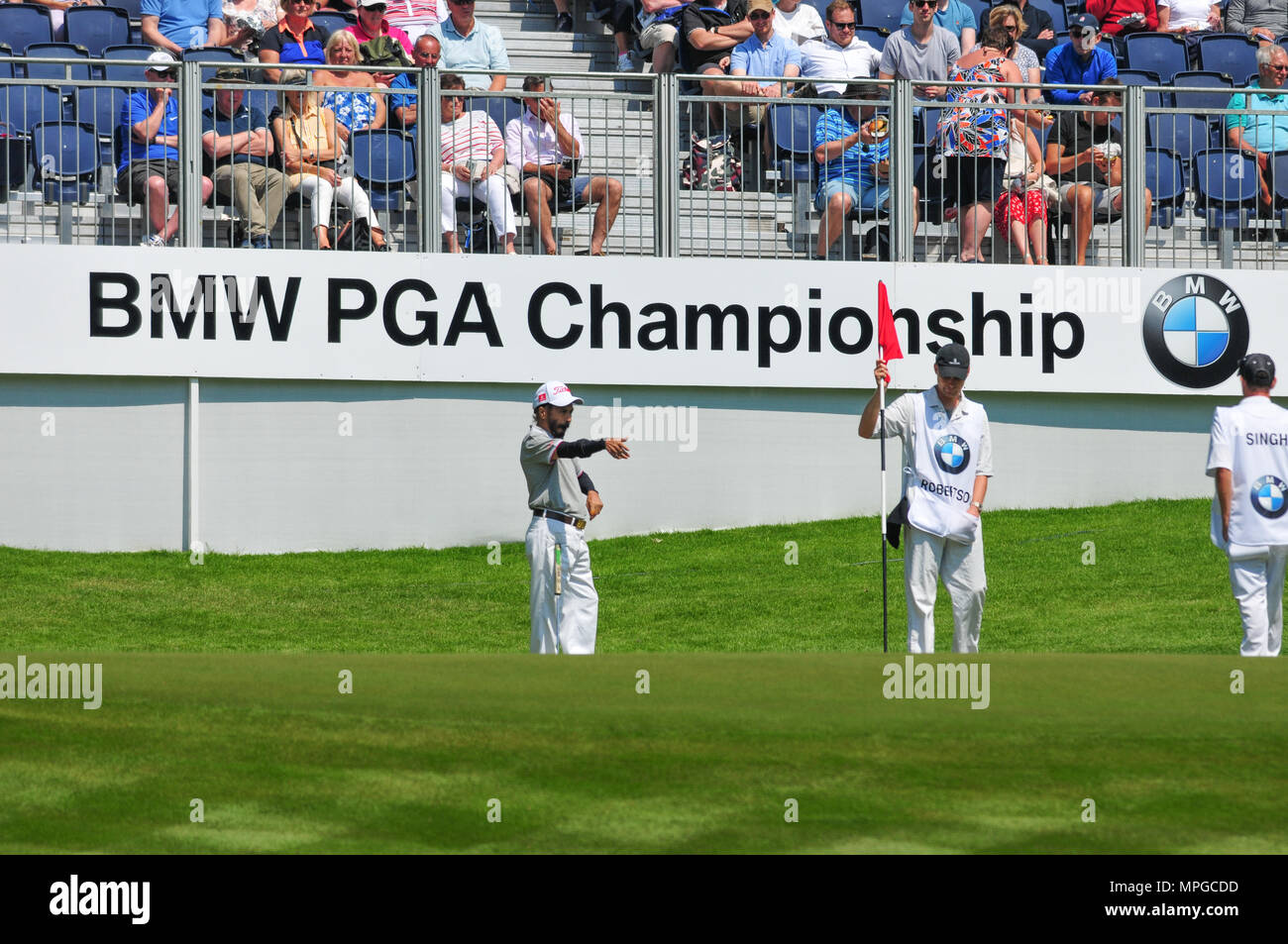 BMW PGA Golf Championship Pro-Am at Wentworth Golf Club, Surrey, - Stock Image