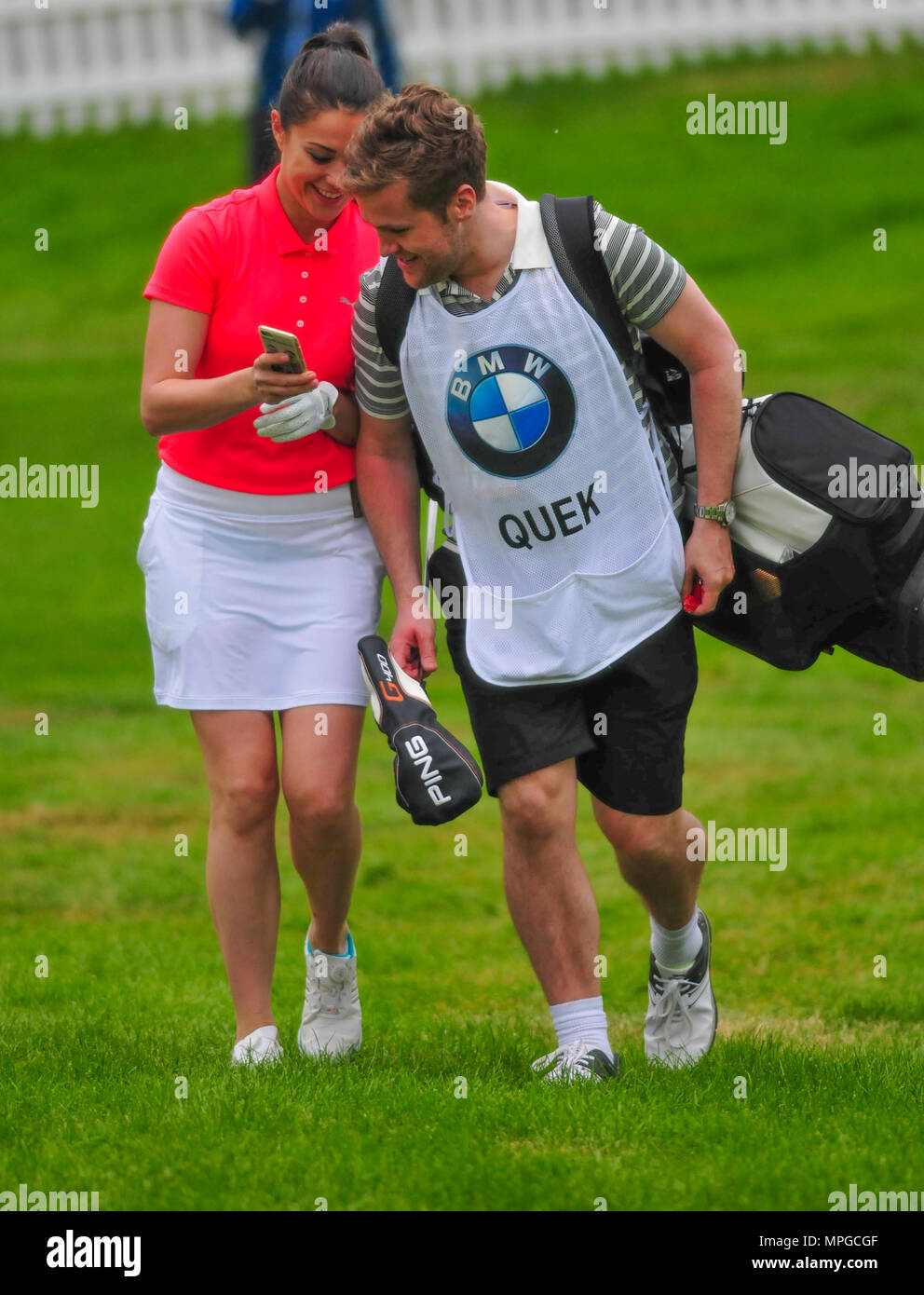 Sam Quek playing in a golf Pro-Am - Stock Image