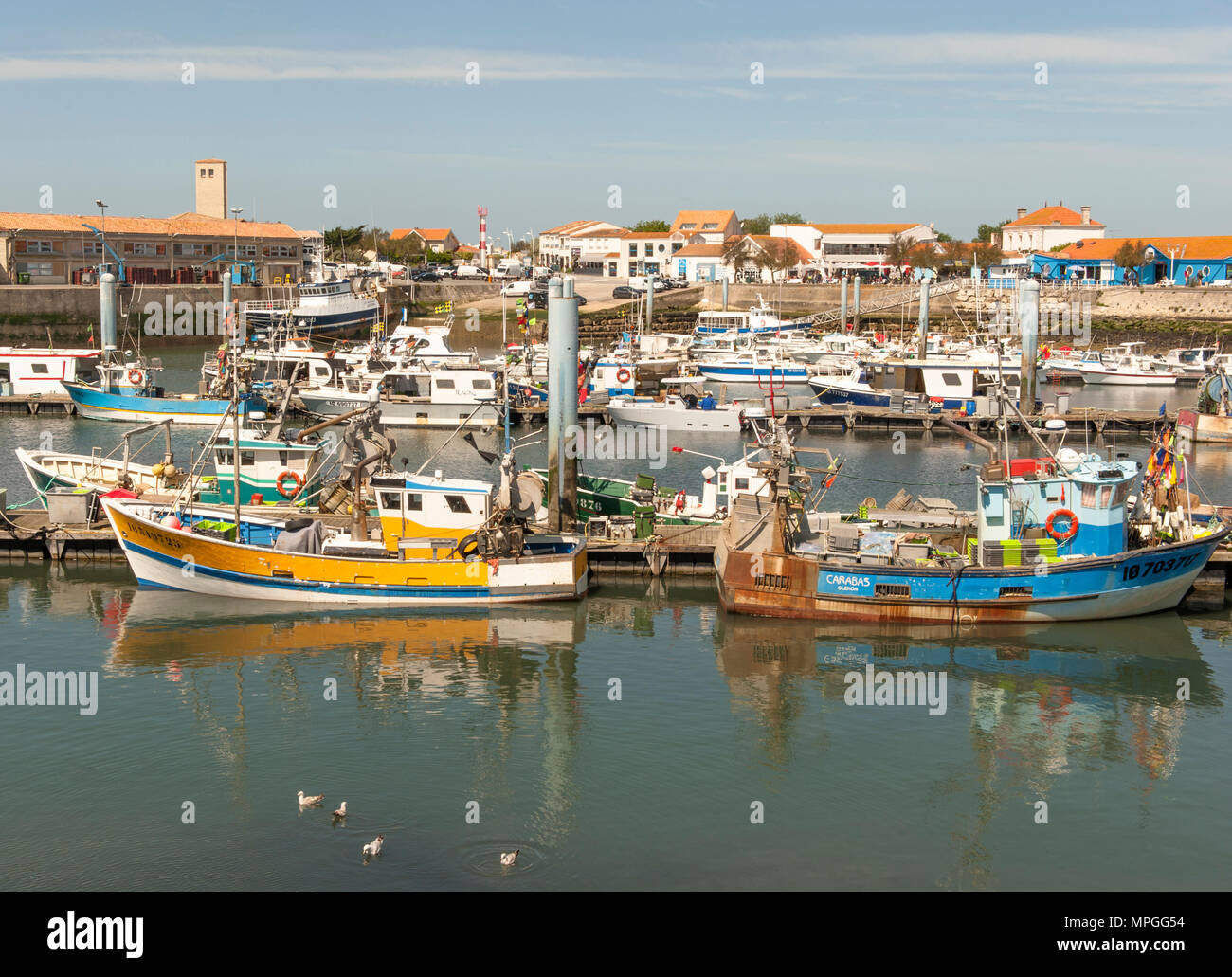 The Fishing Port Of La Cotiniere On The Ile D Oleron France Stock
