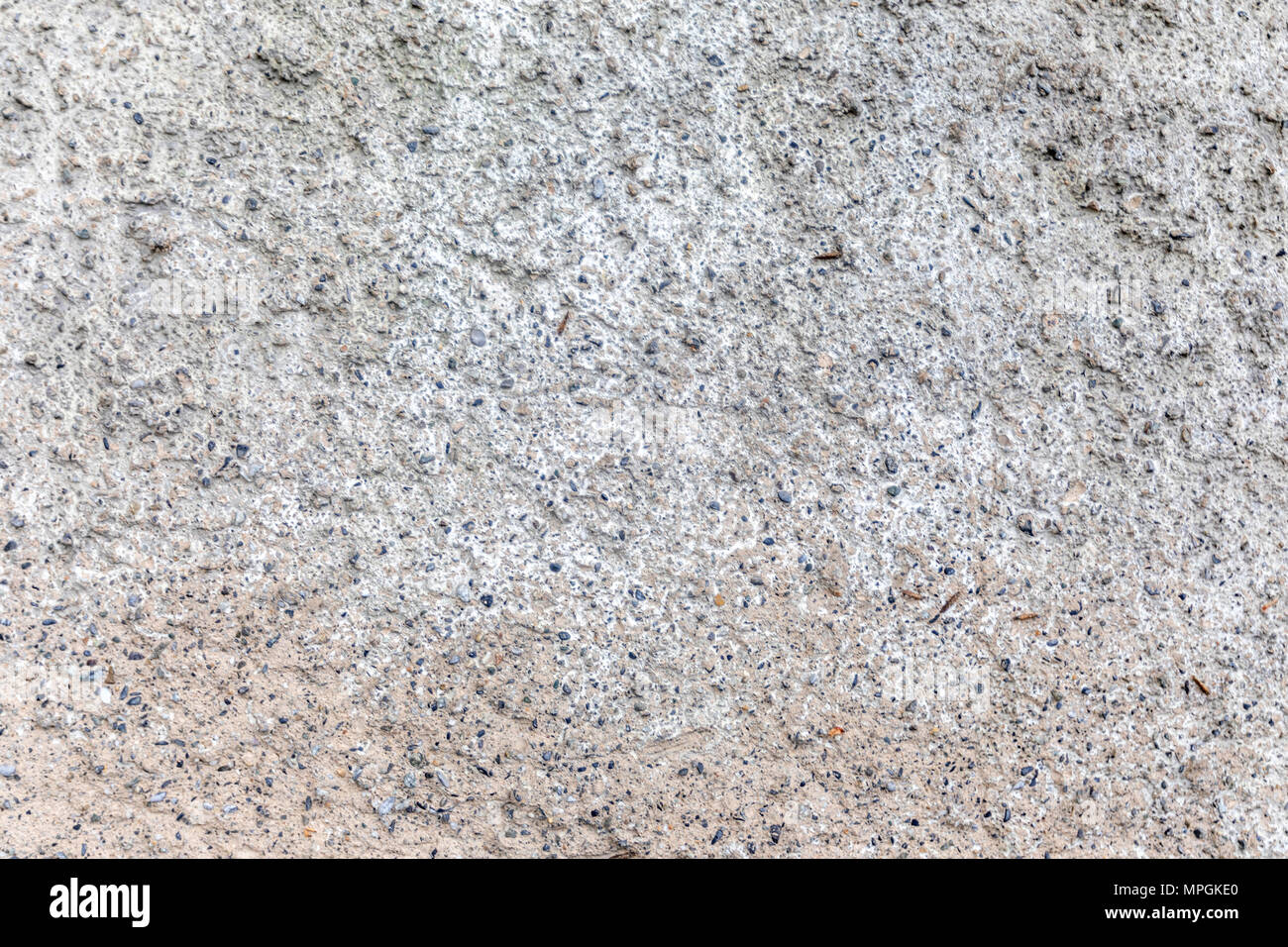 Wall with cement. Gray stone background. Wallpaper. - Stock Image