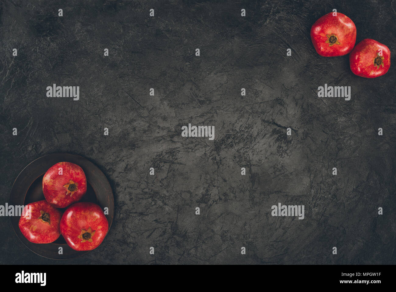 five pomegranates - Stock Image