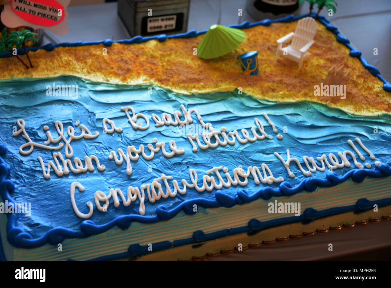 The Cake For The Retirement Of Karen Foley A Program Analyst With