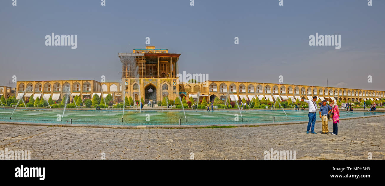 Isfahan Ali Qapu Palace Stock Photo
