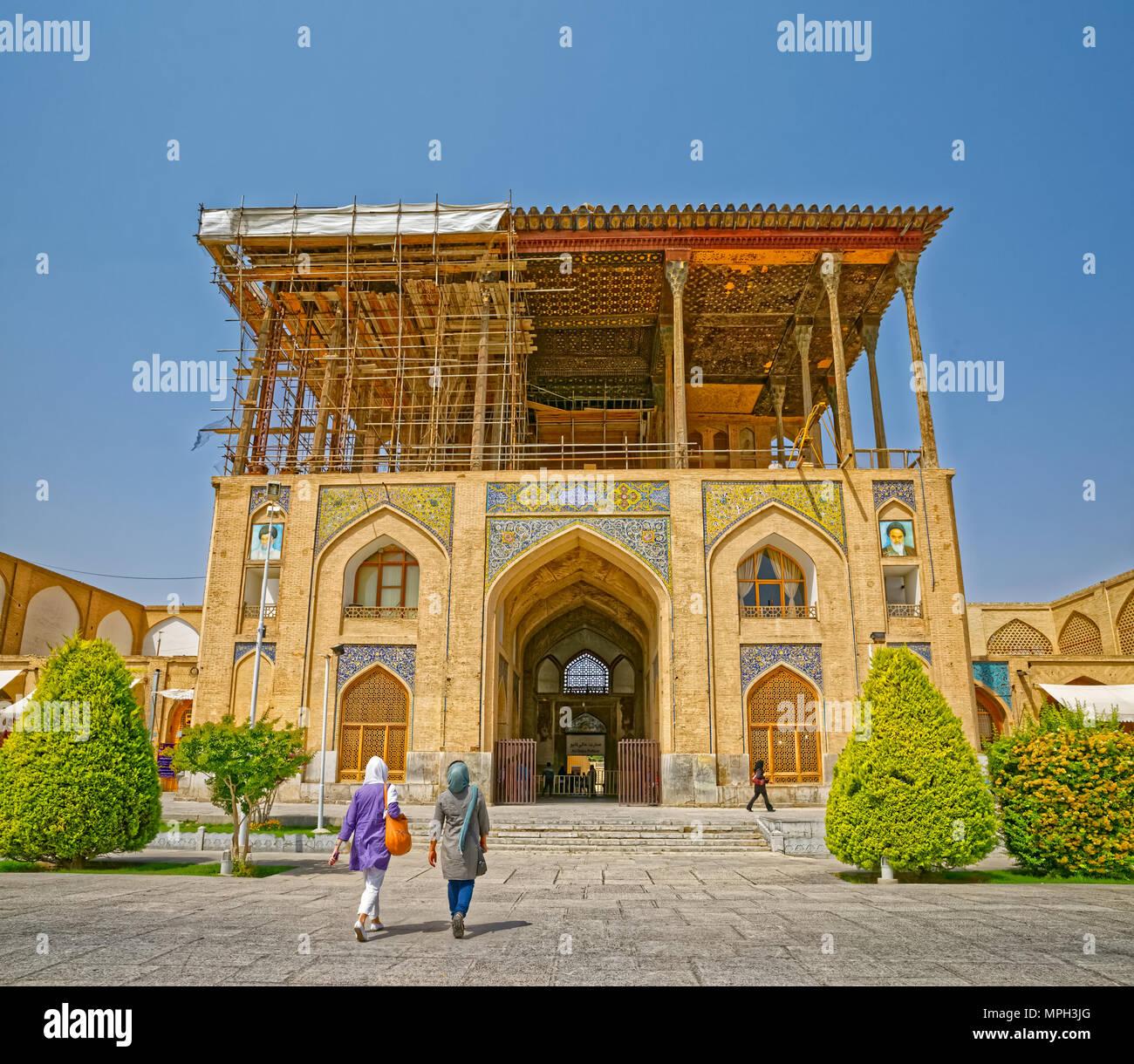Isfahan Ali Qapu Palace Stock Photo