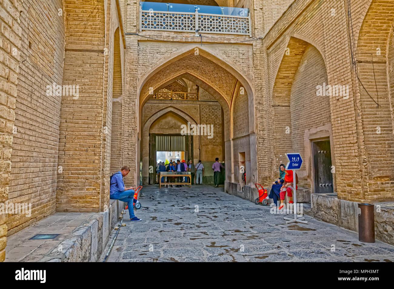Ali Qapu Palace indoor yard Stock Photo