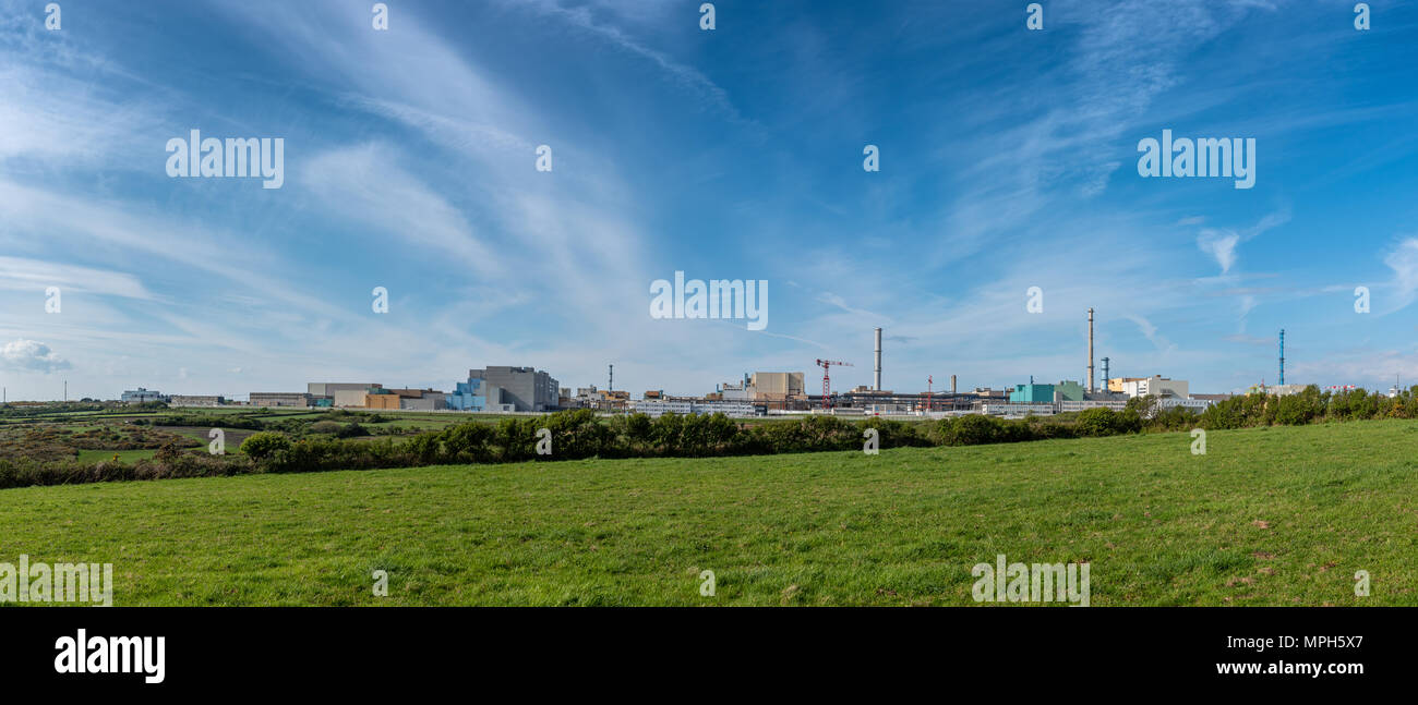 Nuclear fuel reprocessing plant - La Hague, France, Europe - Stock Image