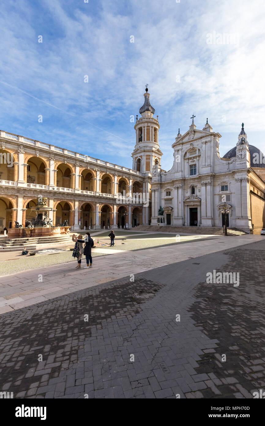 Basilica of Loreto, Loreto village, Ancona district, The Marches, Italy - Stock Image