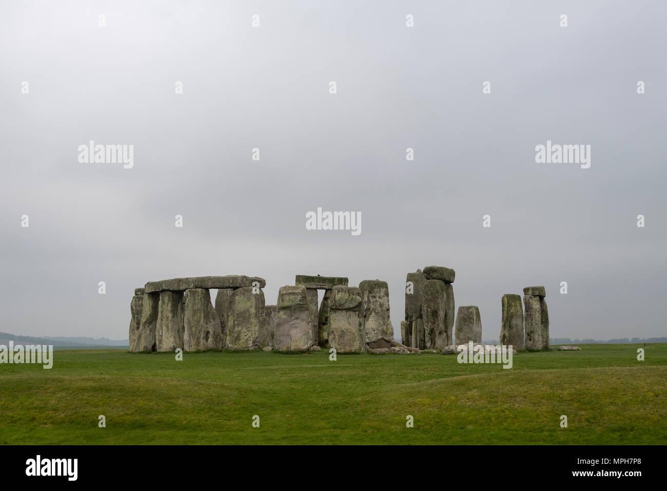 Stonehenge, prähistorischer Steinkreis - Stock Image