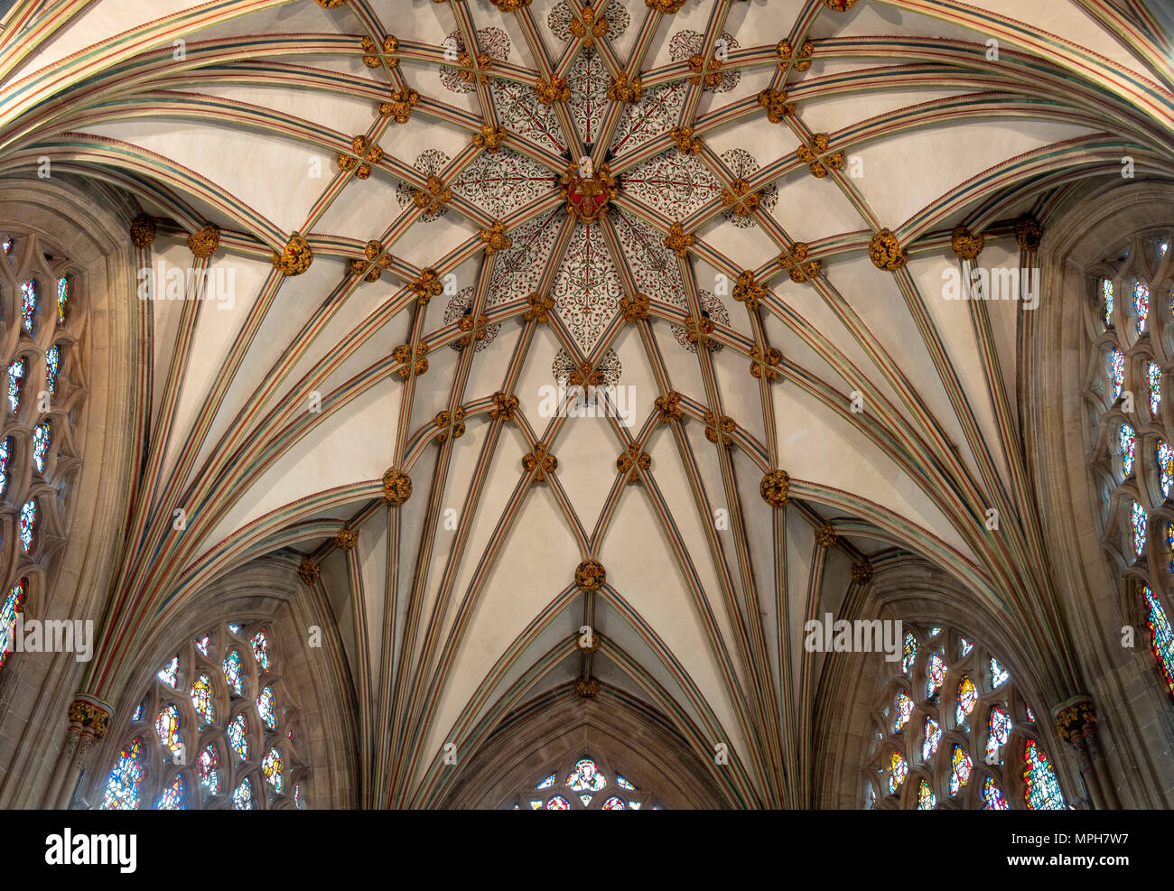 Wells, Cathedral, Marienkapelle (Lady Chapel), Gewölbe - Stock Image