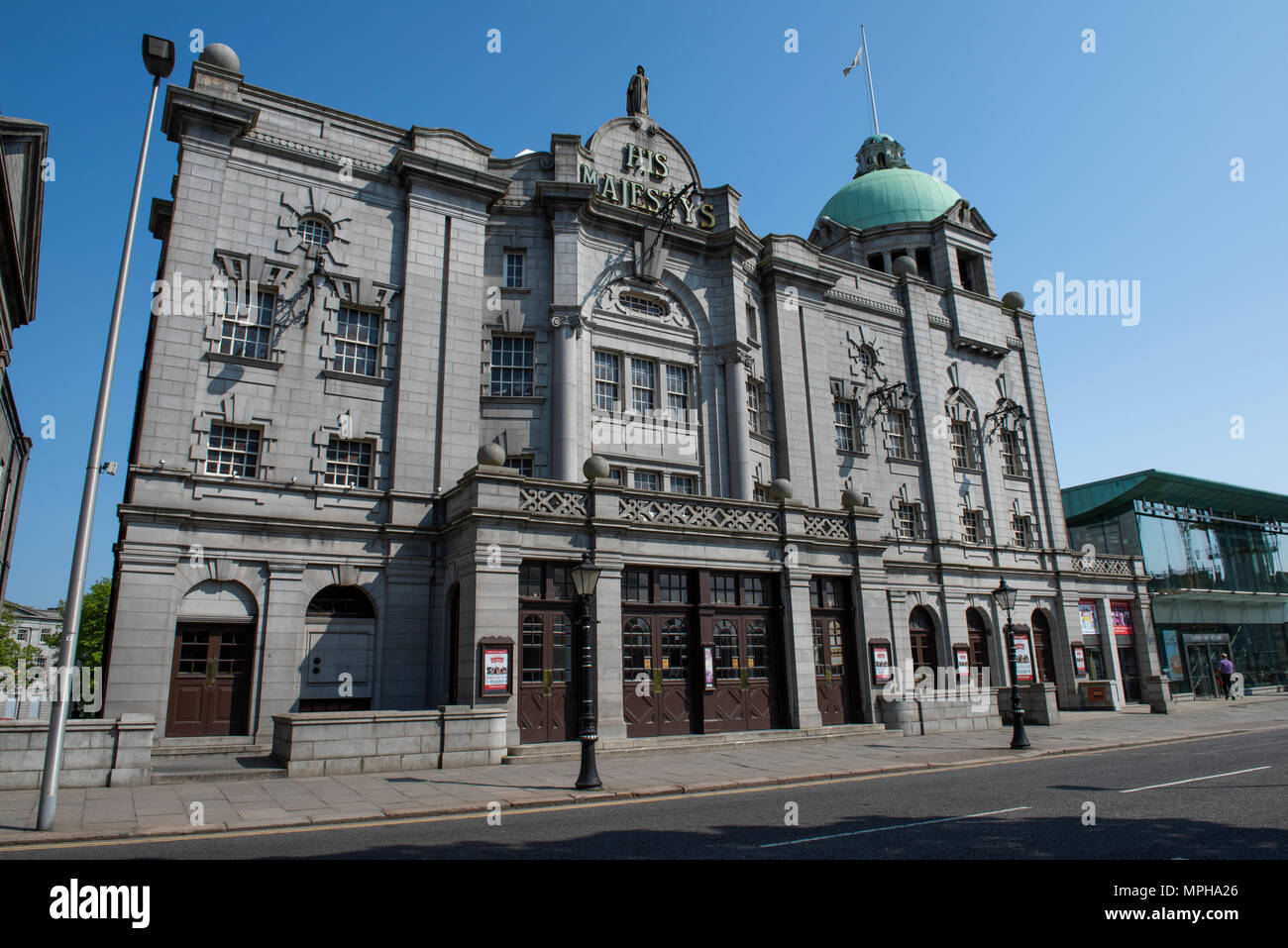 United Kingdom, Scotland, Aberdeen, historic Old Aberdeen. His Majesty's Theatre, the largest in north-east Scotland, seating more than 1,400. - Stock Image