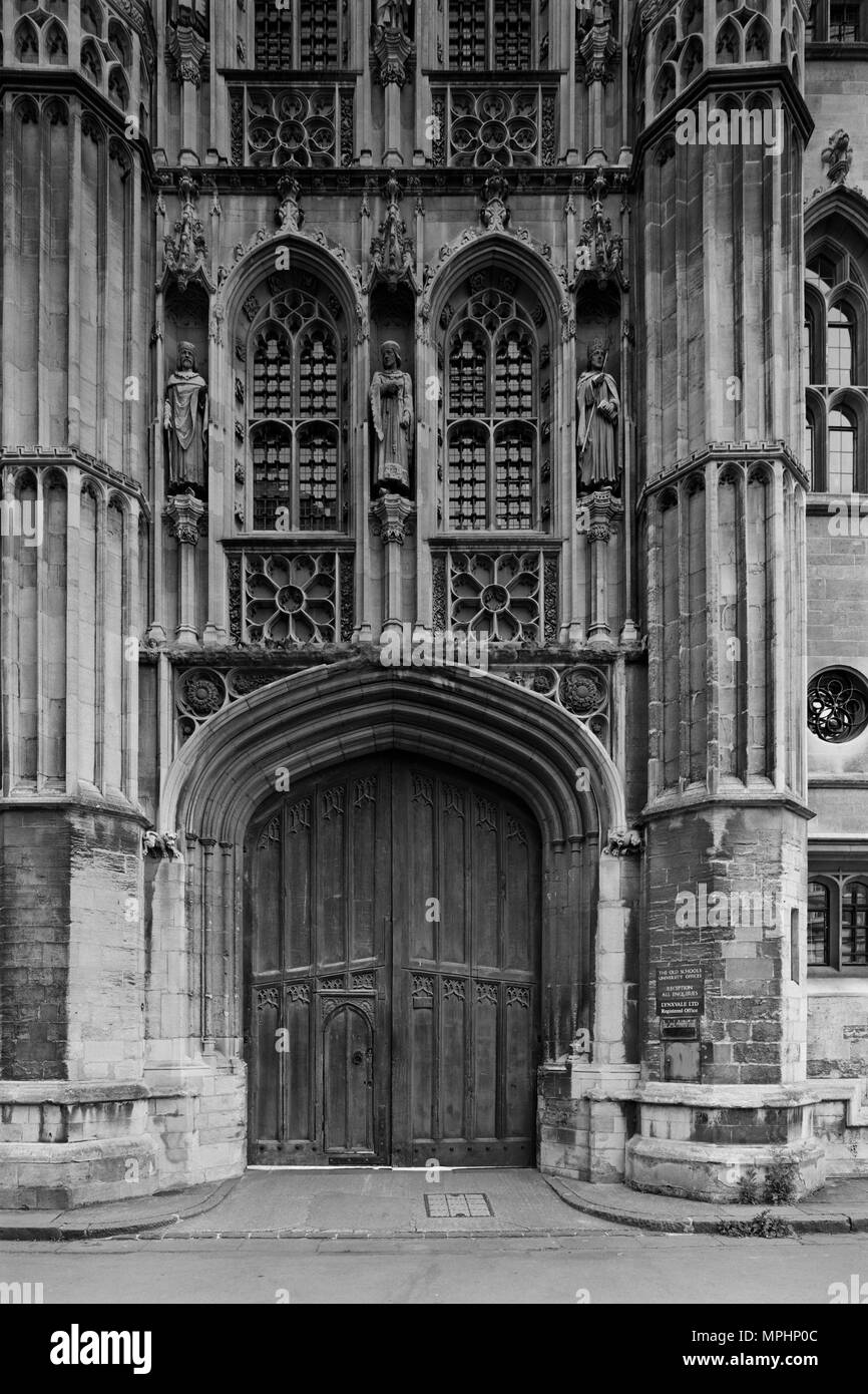 Trinity Lane entrance to the Old Schools of Cambridge University - Stock Image