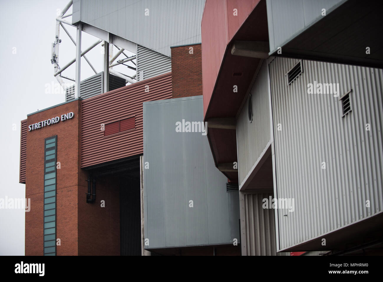 Stretford End. Old Trafford. Manchester United. - Stock Image
