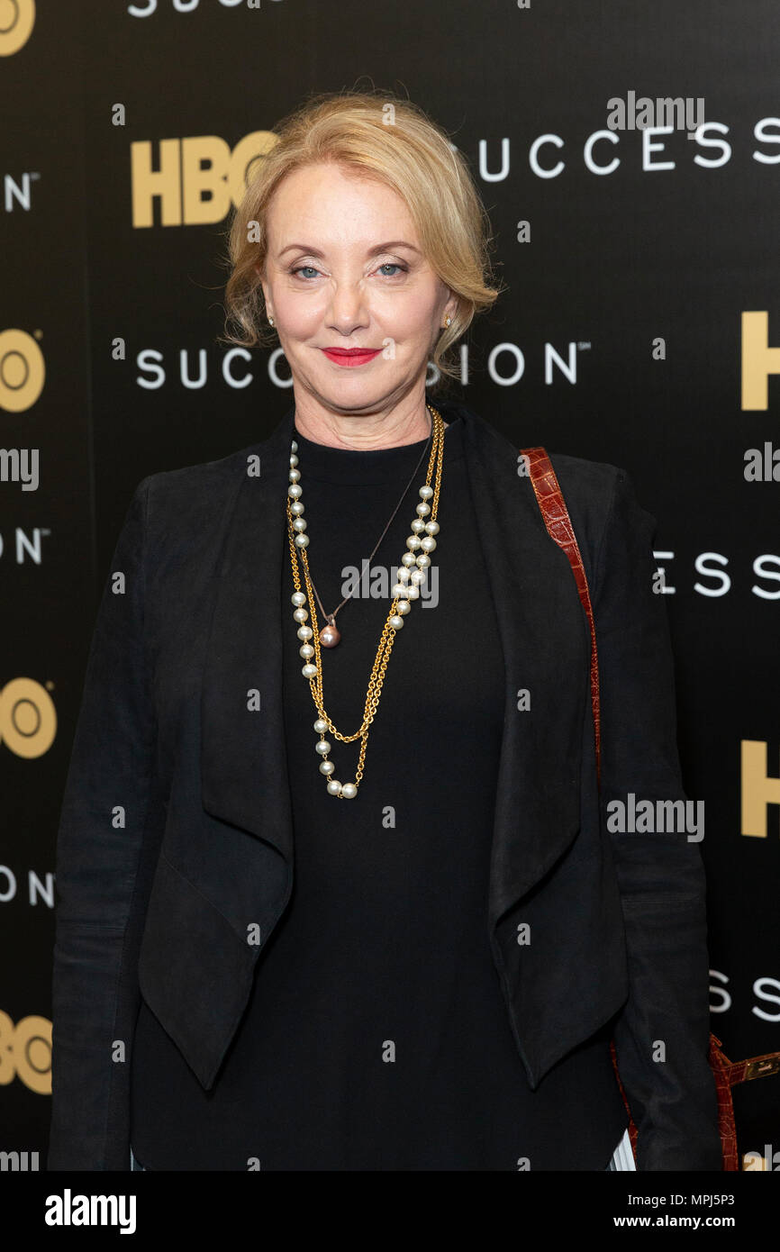 New York, United States. 22nd May, 2018. J. Smith-Cameron attends HBO drama Succession premiere at Time Warner Center Credit: Lev Radin/Pacific Press/Alamy Live News - Stock Image