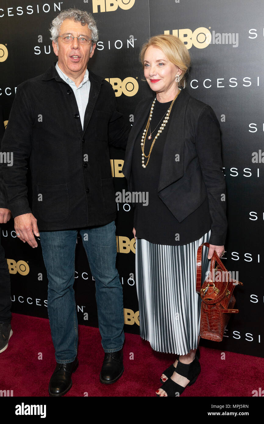 New York, United States. 22nd May, 2018. Eric Bogosian and J. Smith-Cameron attend HBO drama Succession premiere at Time Warner Center Credit: Lev Radin/Pacific Press/Alamy Live News - Stock Image