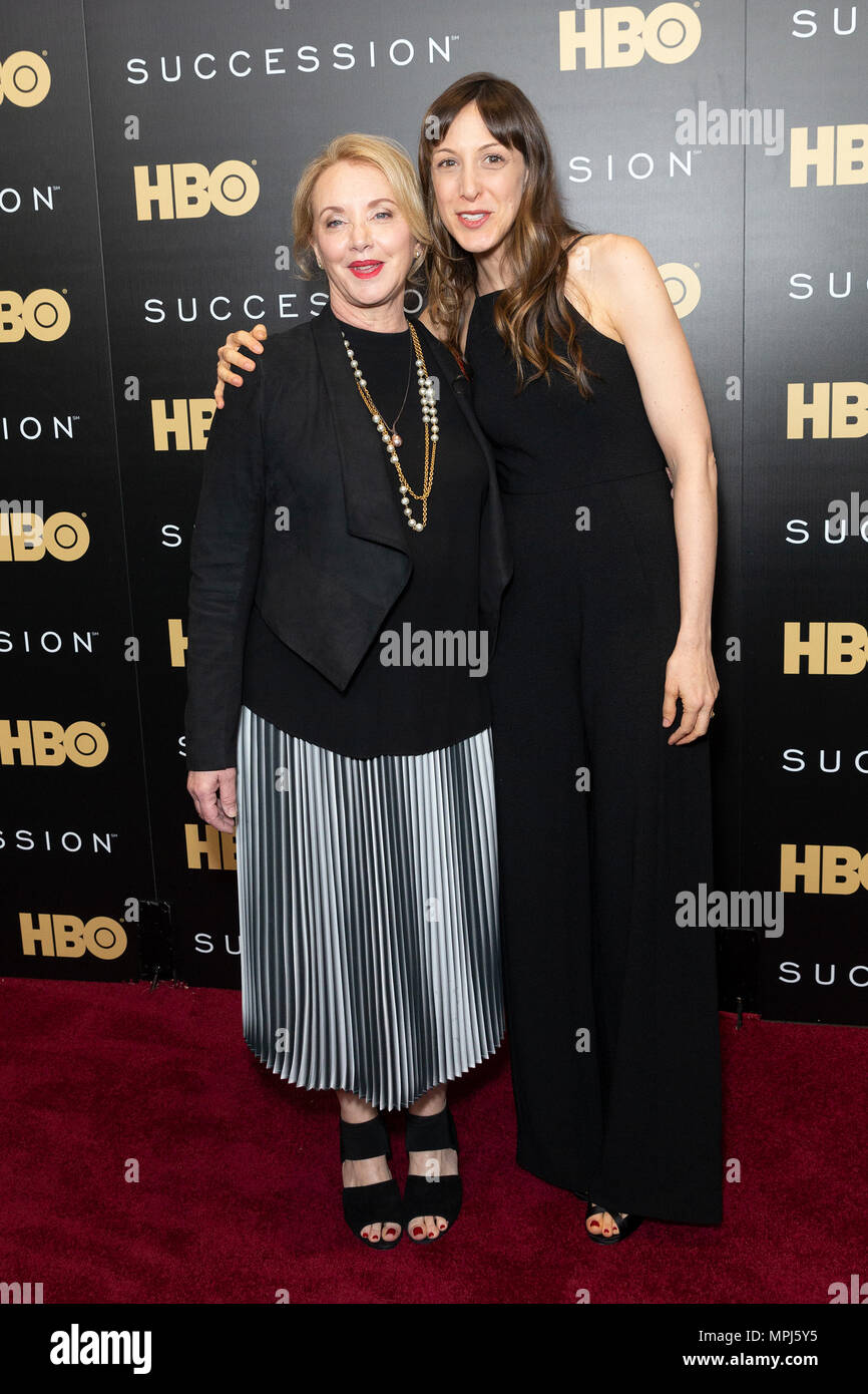 New York, United States. 22nd May, 2018. J. Smith-Cameron and Natalie Gold attend HBO drama Succession premiere at Time Warner Center Credit: Lev Radin/Pacific Press/Alamy Live News - Stock Image