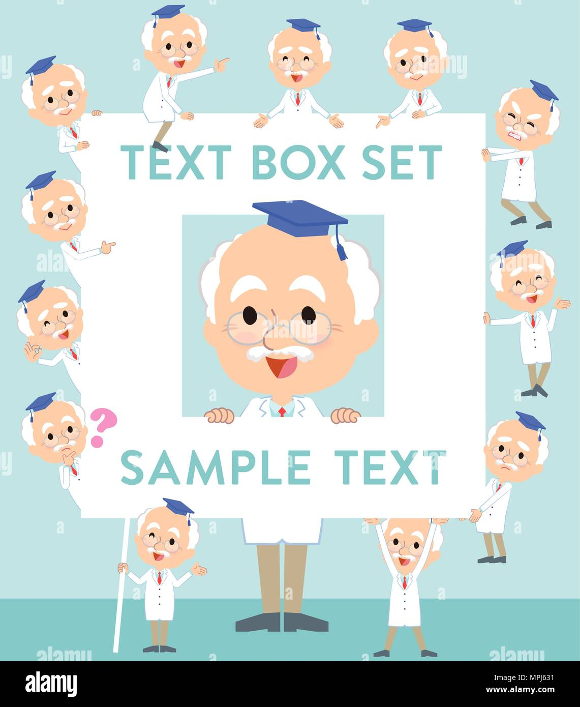 Research Doctor old men_text box - Stock Vector