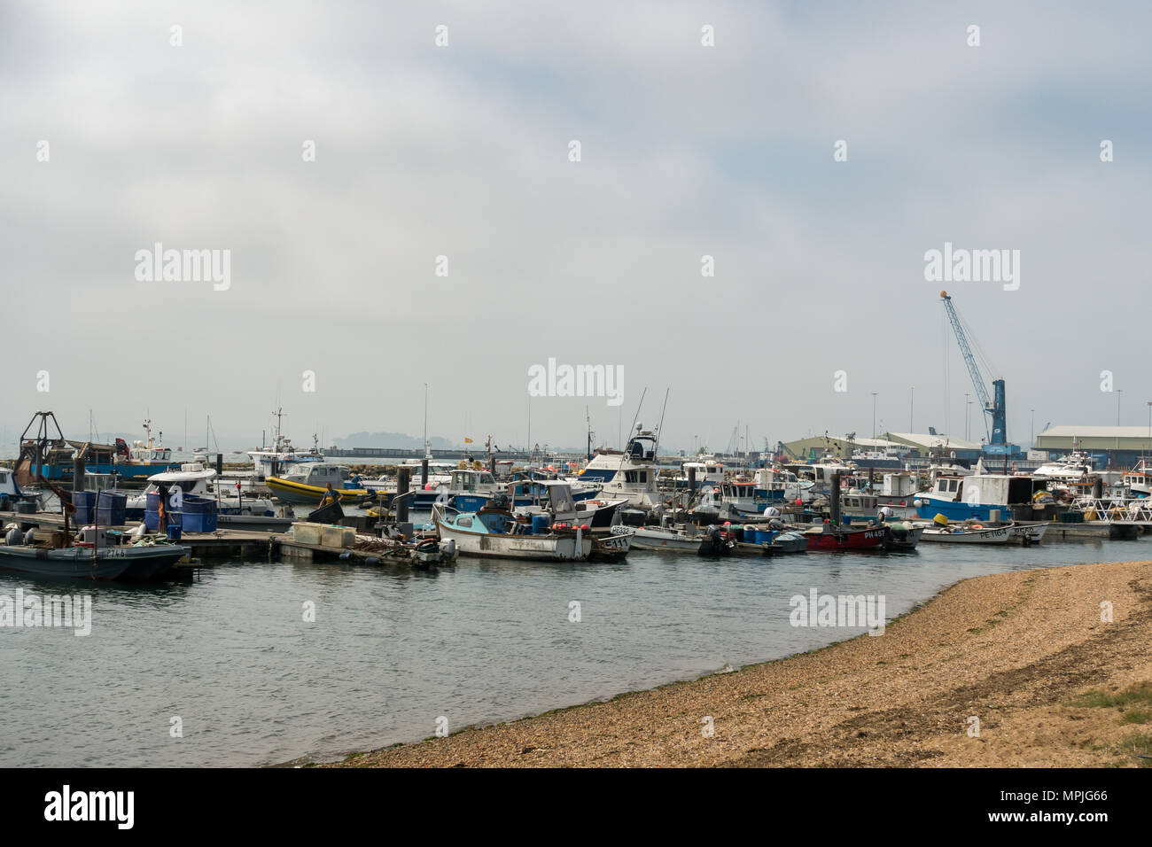View of Poole harbour, Dorset, England United Kingdom - Stock Image