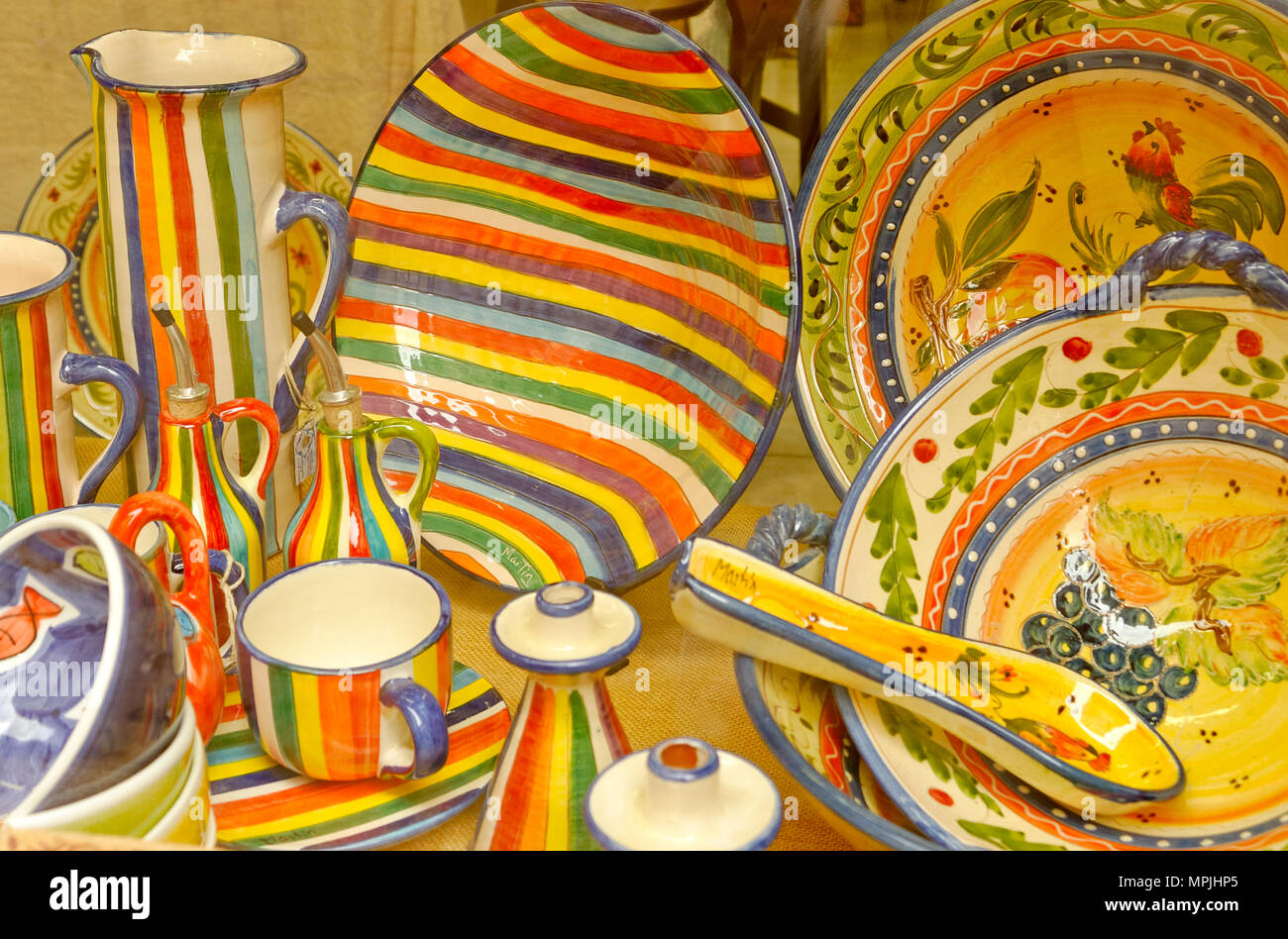 pottery Spain - Stock Image