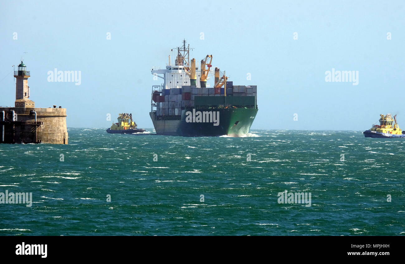Conjunto de imagens de movimentos de navios Stock Photo