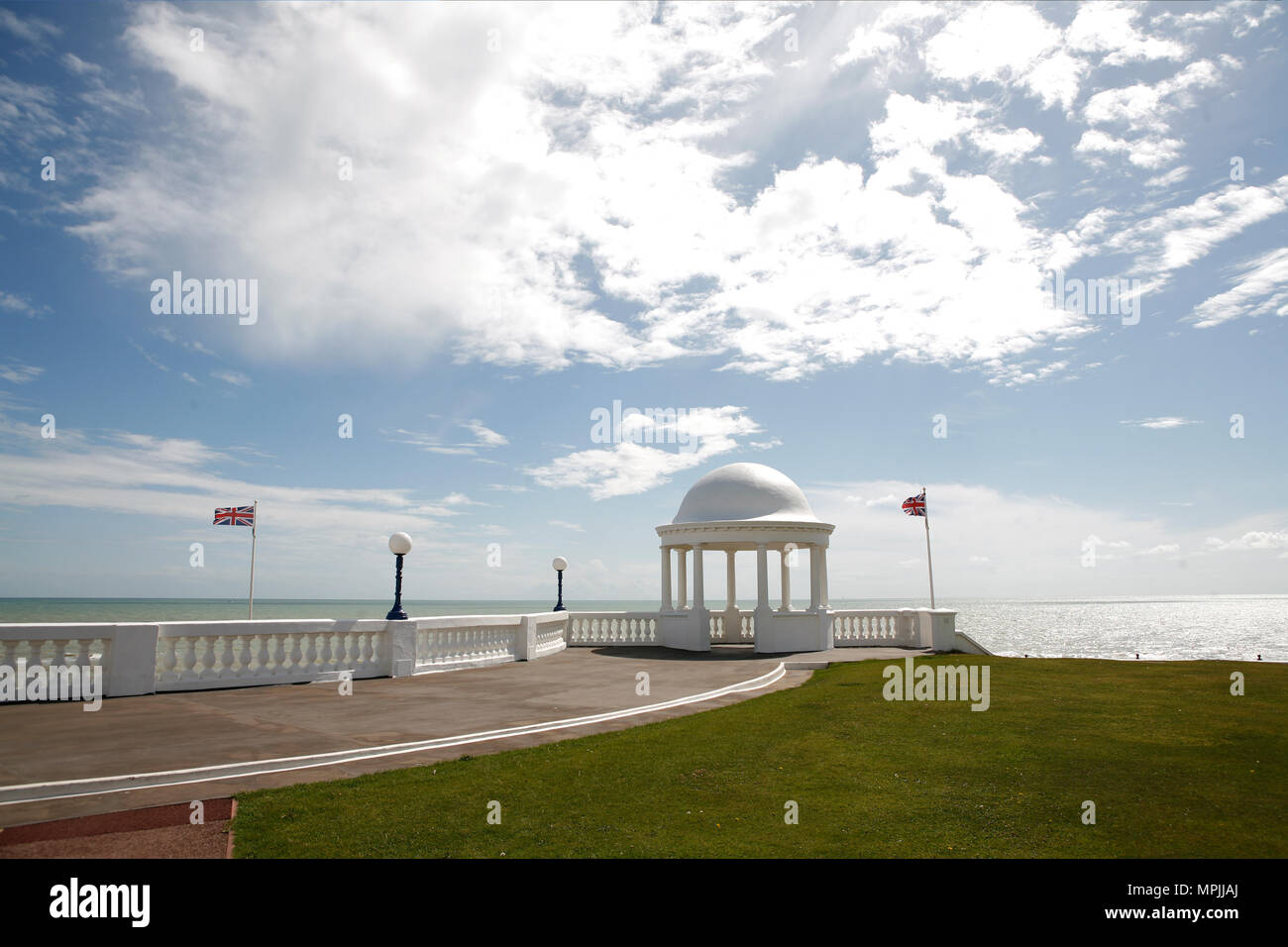 The De La Warr Pavillion, exterior of the Art Deco Gallery and Arts Centre, building constructed in 1935 and designed by the architects Erich Mendelsohn and Serge Chermayeff. Bexhill on Sea, East Sussex.14 August 2008 --- Image by © Paul Cunningham - Stock Image