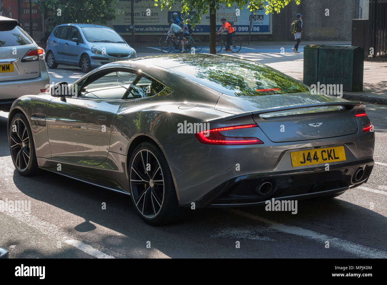 A Top Of The Range Aston Martin Sports Car On A London Street Fast And Powerful Racing Pedigree Sports Cars Mad In England Stock Photo Alamy