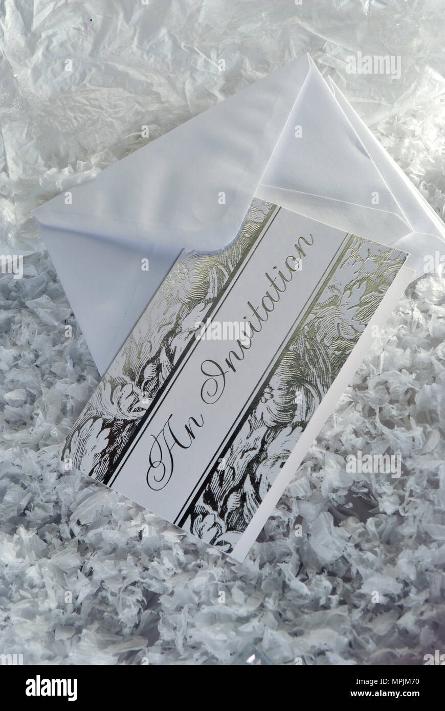 engraved invitation with snow stock photo 186037124 alamy