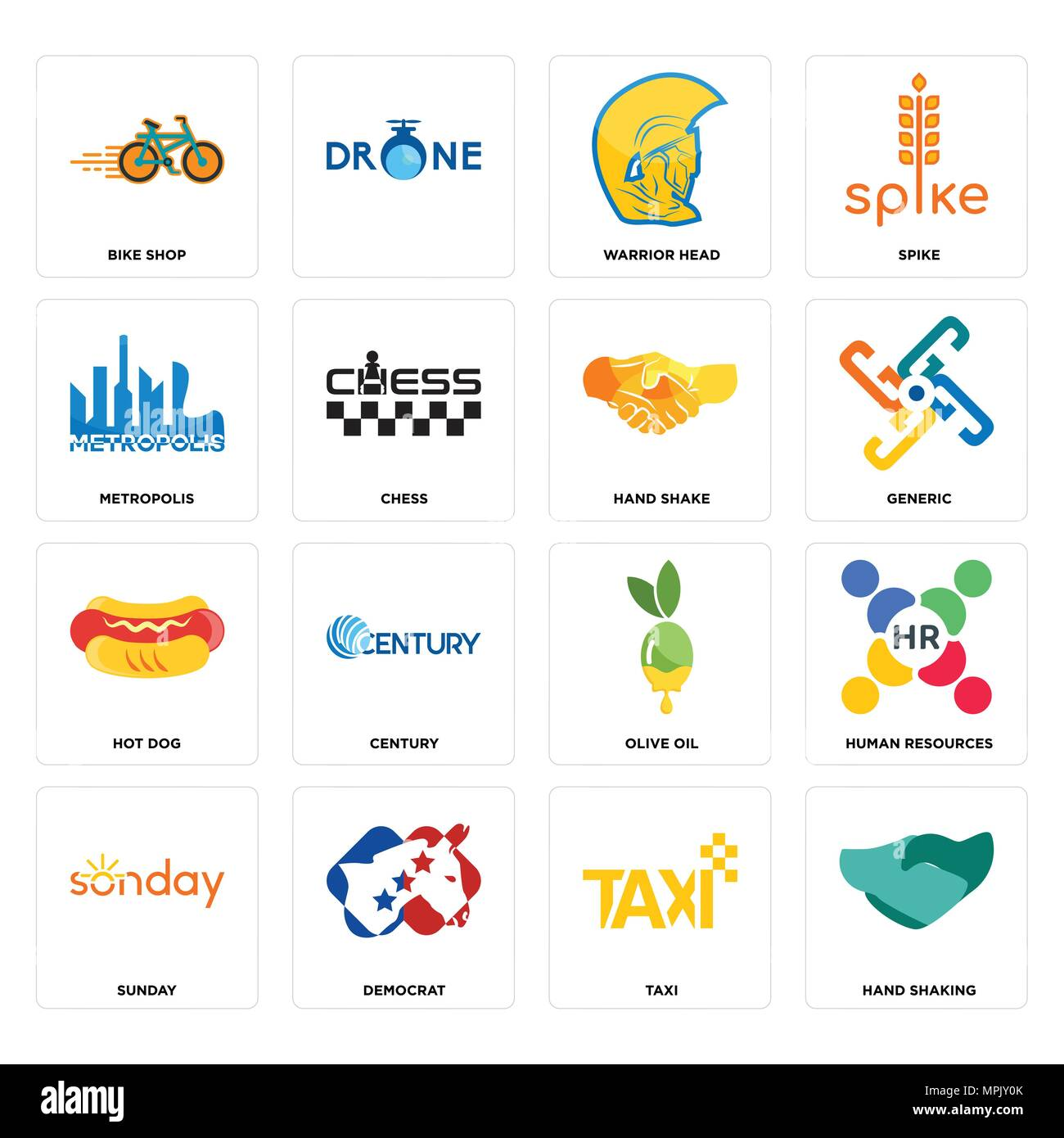 Set Of 16 Simple Editable Icons Such As Hand Shaking Taxi Democrat