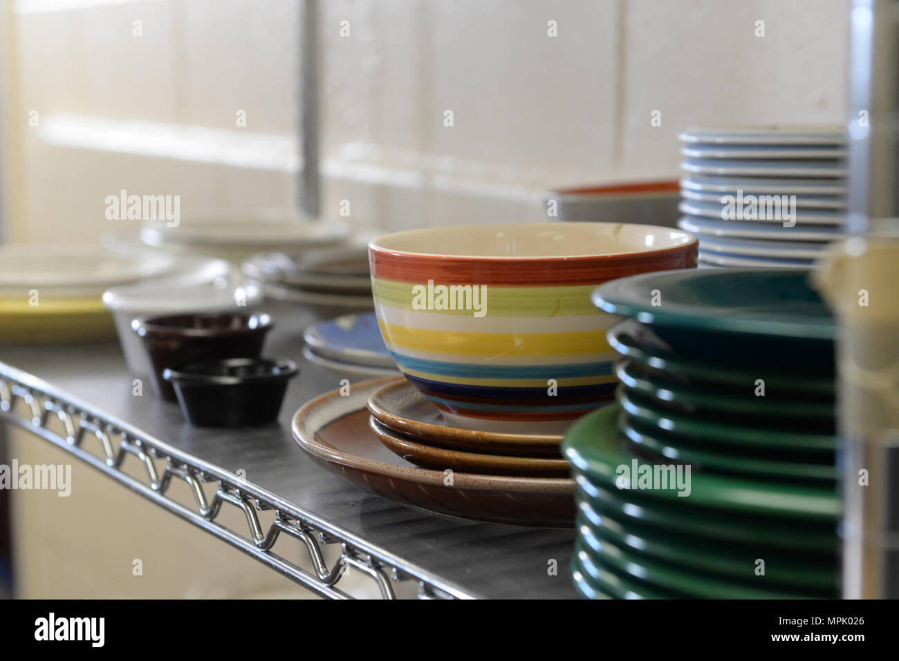Kitchenware sits on a shelf in the Airmanu0027s Attic on March 16 2017 at & Eielson Airmans Attic Stock Photos u0026 Eielson Airmans Attic Stock ...
