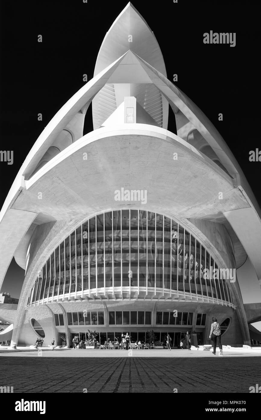 Palau de les Arts Reina Sofía, Valencia Spain - Stock Image