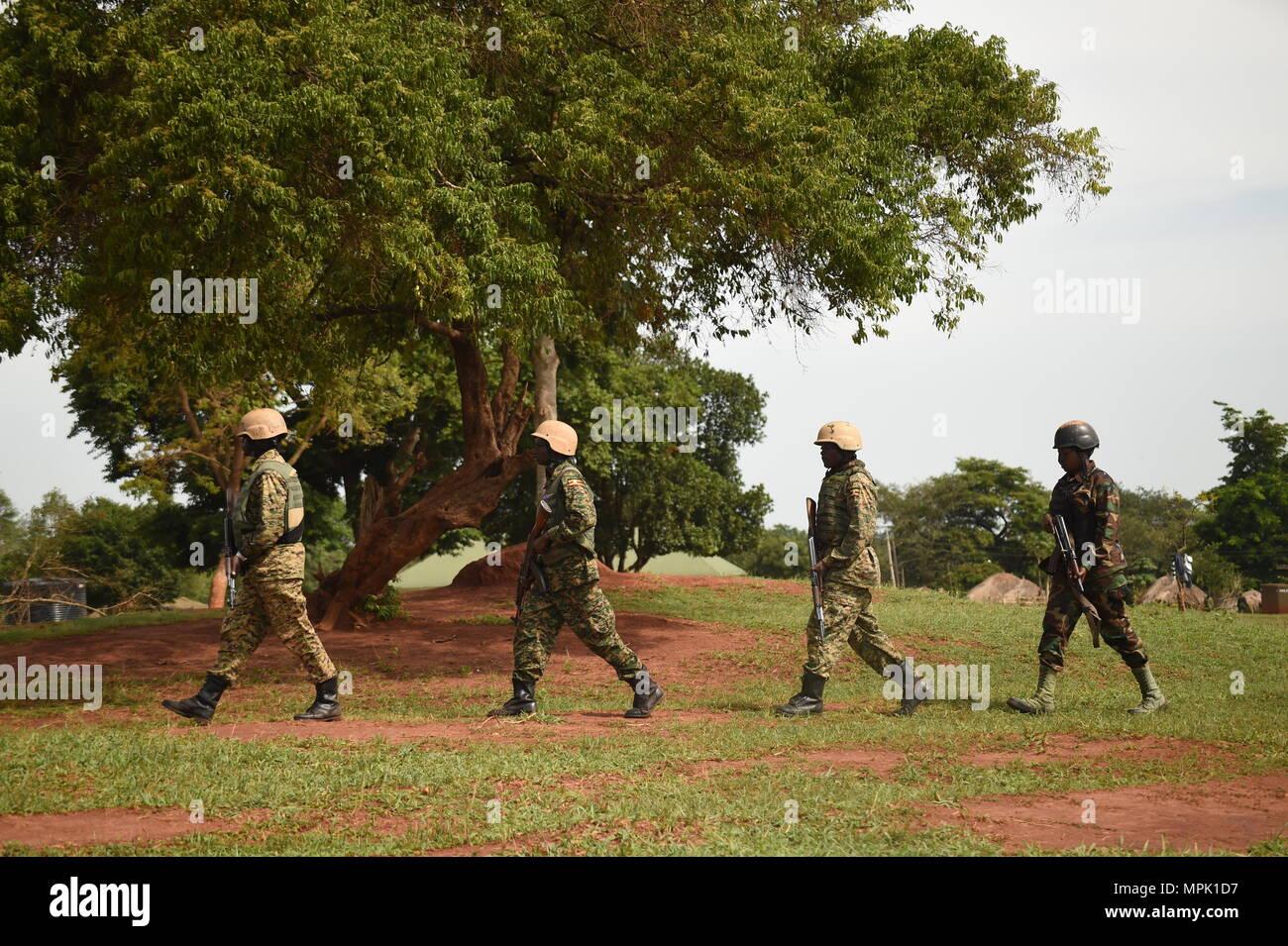 Uganda People\'s Defense Force, Ugandan Battle Group 22 soldiers ...