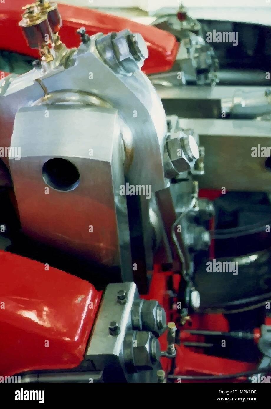 Steam Engine Crankshaft - Stock Image