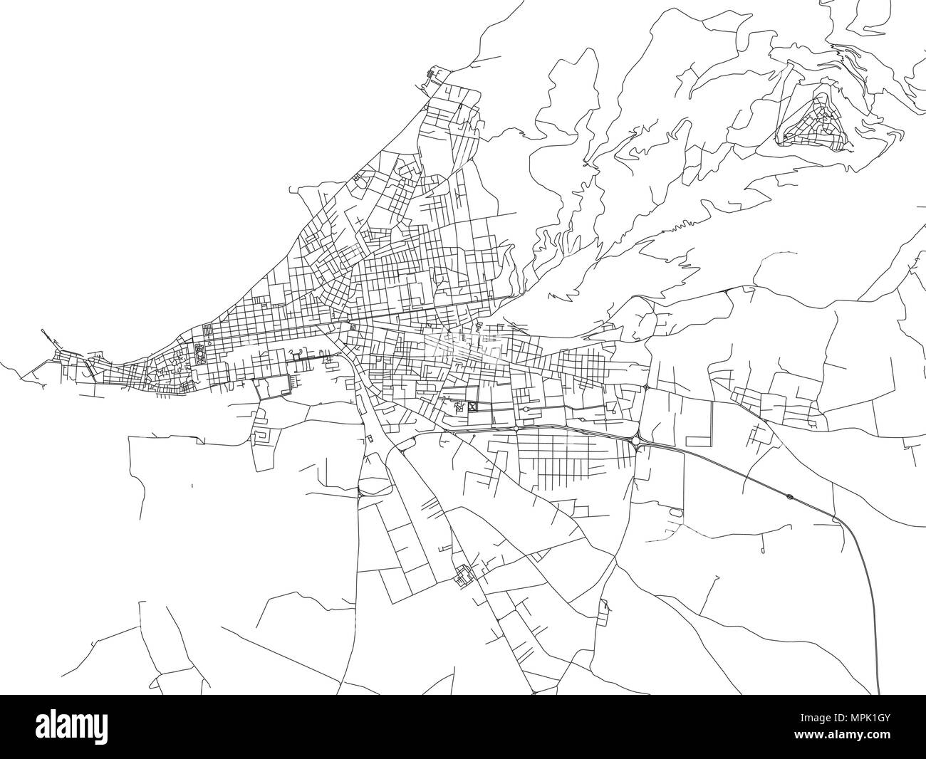 Regional Italy Map.Streets Of Trapani Map Of The City Regional Capital Sicily Italy