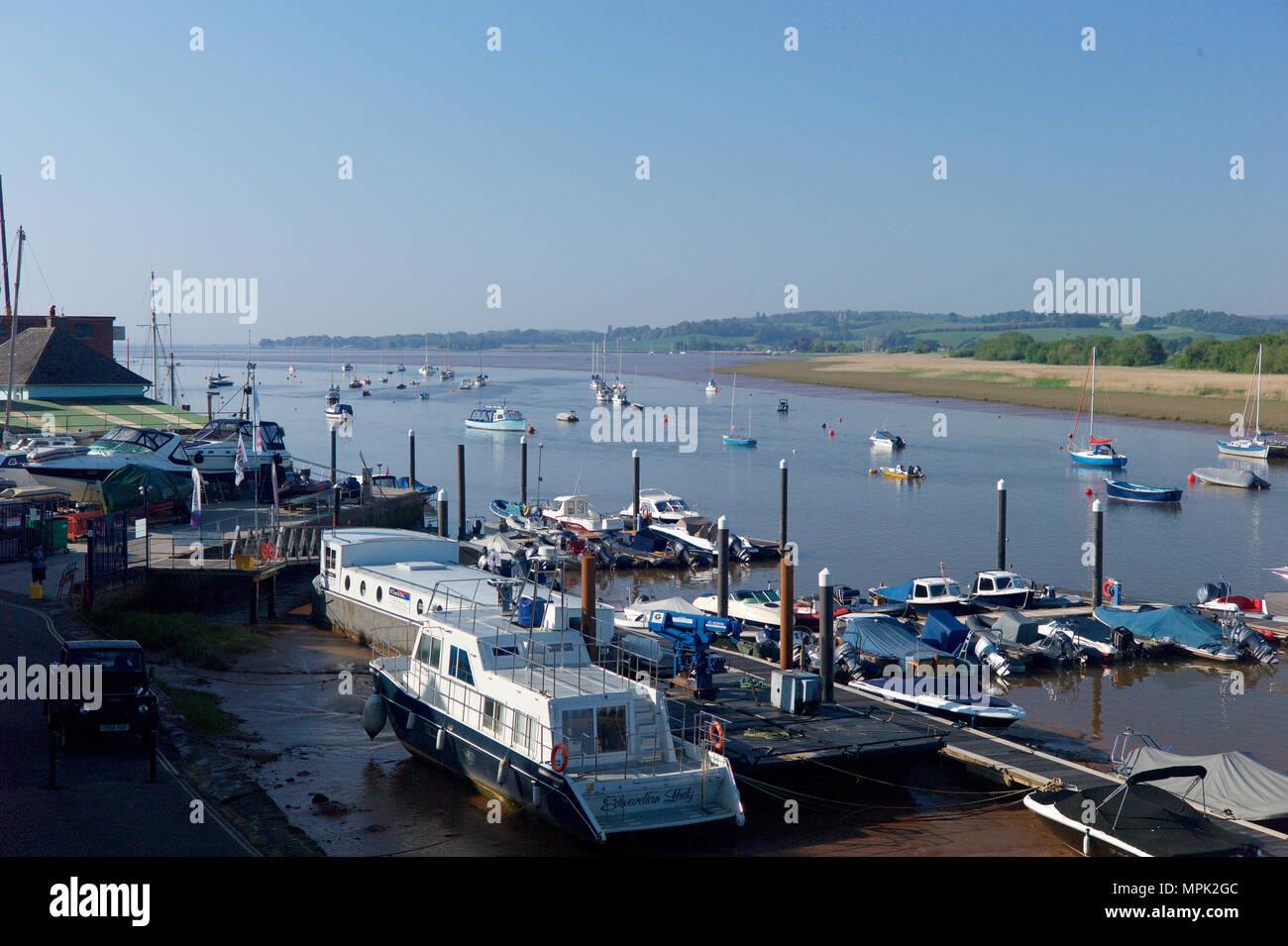 Boatyard and marina at Topsham, Devon, UK - Stock Image