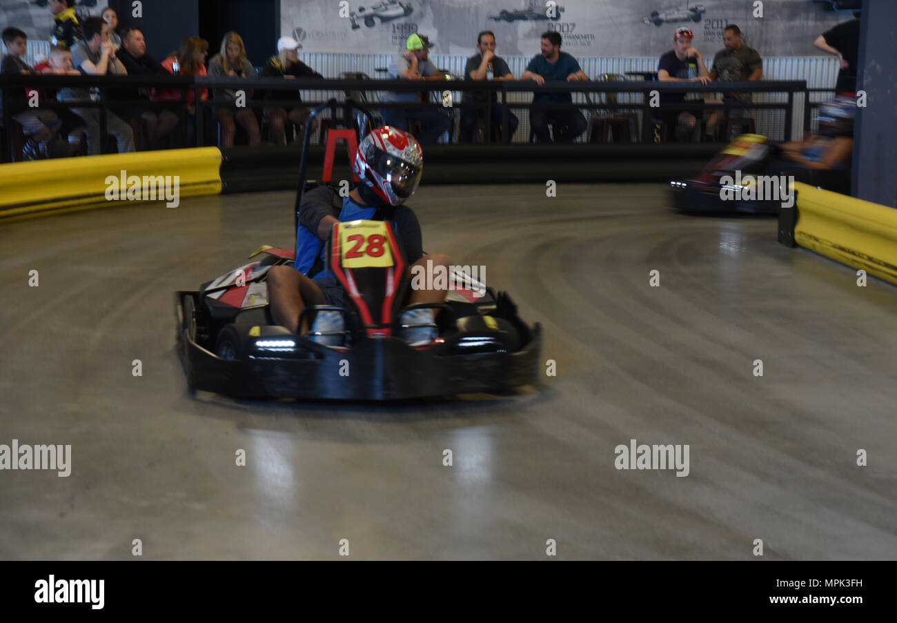 Go Karts Colorado Springs >> An Airman Drives A Go Kart During The Single Airmen Initiative S